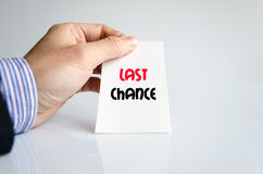Last chance text concept Stock Images