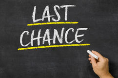 Last chance Stock Image