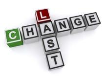 Last change Stock Photos
