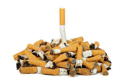 The last cigarette Stock Image