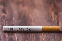 The last cigarette Royalty Free Stock Images