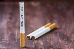 The last cigarette Stock Photography