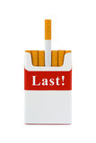 Last cigarette - stop smoking concept Royalty Free Stock Image