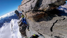 The last climb to gran paradiso Stock Images