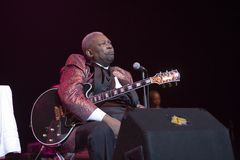 Last concert. Last BB King Concert SAP Arena 10.9.2006 Royalty Free Stock Photography