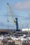 Last Crane Unloading Vehicles Royaltyfria Foton