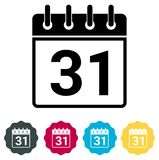 Last Day in Calender Organizer Icon - Illustration. As EPS 10 File Royalty Free Stock Photography