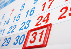 Last day of the month Royalty Free Stock Photography