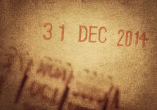 Last Day Of 2014 Royalty Free Stock Photos