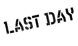 Last Day rubber stamp. Grunge design with dust scratches. Effects can be easily removed for a clean, crisp look. Color is easily changed Stock Image