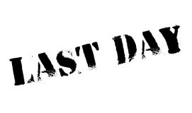 Last Day rubber stamp. Grunge design with dust scratches. Effects can be easily removed for a clean, crisp look. Color is easily changed Stock Photography