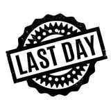 Last Day rubber stamp. Grunge design with dust scratches. Effects can be easily removed for a clean, crisp look. Color is easily changed Royalty Free Stock Photography