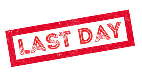 Last Day rubber stamp. On white. Print, impress, overprint Royalty Free Stock Images