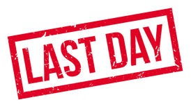 Last Day rubber stamp Royalty Free Stock Image