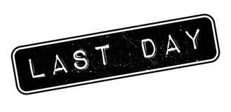 Last Day rubber stamp. On white. Print, impress, overprint Royalty Free Stock Photos