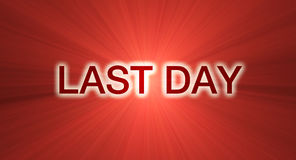 Last day sale banner in red Royalty Free Stock Image