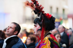 last day of Sitges Carnival. Burial Carne Royalty Free Stock Images