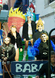Last day of Sitges Carnival. Burial Carnestoltes Royalty Free Stock Photo