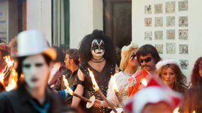 Last day of Sitges Carnival. Burial Carnestoltes Royalty Free Stock Image