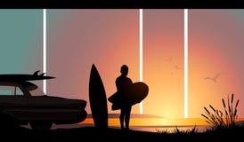 Last day of Summer stock illustration