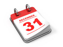 Last day of the year. 3d rendered calendar Royalty Free Stock Photo
