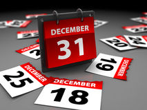 Last day of year Stock Photos
