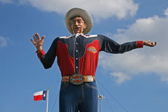 Last days of Big Tex. The cowboy icon Big Tex caught fire and burned completely down on October 19th, 2012. He had been greeting visitors at the State Fair of Royalty Free Stock Images