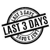Last 3 Days rubber stamp Royalty Free Stock Photo