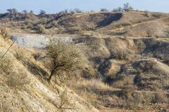 The last days in the Tavrian steppe. The last days of warm autumn before the terrible frosts in the Tavrian steppe. Zaporizhia region, Ukraine. November 2018 royalty free stock images