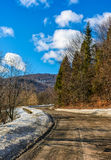 Last days of winter in countryside landscape Royalty Free Stock Image