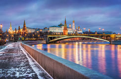 The last days of winter in Moscow Royalty Free Stock Photos