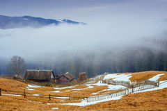 The last days of winter in the mountains of Ukraine Royalty Free Stock Photography