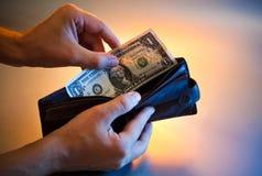 Last dollar stock images