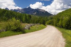 Last Dollar Road. Near ridgway in Colorado Royalty Free Stock Images