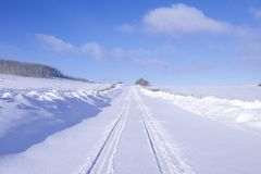 The Last Dollar Road in snow in the San Juan Mountains, Colorado Stock Photography