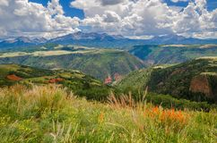 Last Dollar Road. And viewpoint of the San Juan Mountains stock photography