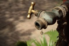 The last drop of water Royalty Free Stock Images