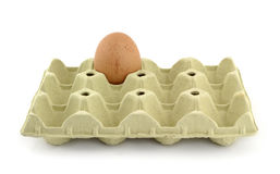 Only. The last egg alone and bored Royalty Free Stock Photography