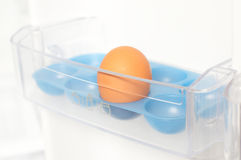 Last egg in fridge Stock Images