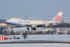 Last för B747 China Airlines Arkivbilder