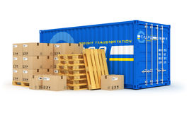 Last-, sändnings- och logistikbegrepp vektor illustrationer