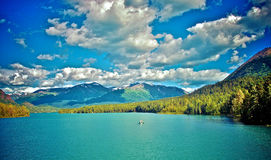 The last frontier. Alaska in summer one lake Stock Image