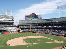 Last Game of the Season at A's stadium royalty free stock photography