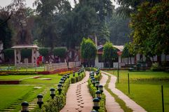 Last gandhi resting place new delhi india. Very much one of the main tourist attractions and points of interest in the area Stock Images
