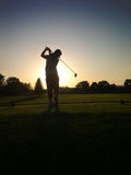 Last hole. Sunset shot off the womens tee Royalty Free Stock Photos