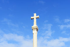 Last holy cross from the old world. Fisterra Galic Stock Images