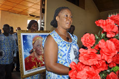 The last home of the mother of President Laurent Gbagbo Stock Photography