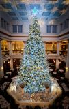 The Last hoorah!. Giant Christmas Tree with bright lights Panorama Royalty Free Stock Image