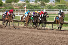 Last Horse Races In Arizona Until Fall. Turf Paradise celebrated its 61st year of operation. Last day of horse racing until fall at Turf Paradise horse racing royalty free stock images