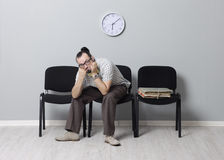 Last job seeker waiting interview Royalty Free Stock Photography